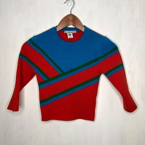 Urban Outfitters 3/4 Sleeve Color Block Sweater